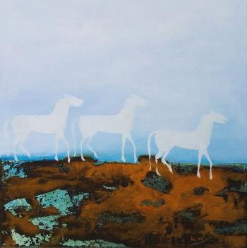 Weisse Pferde | 2014| 40x40 cm