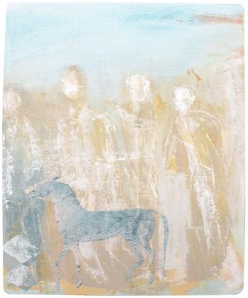 Blaues Pferd in Wüste | 2015 | 22x28 cm